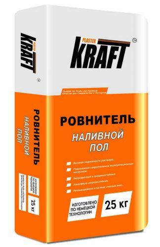 """Наливной пол цементный """"KRAFT"""" Ровнитель (25кг)"""