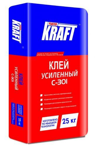 """Клей плиточный """"KRAFT"""" С-301 (25кг)"""
