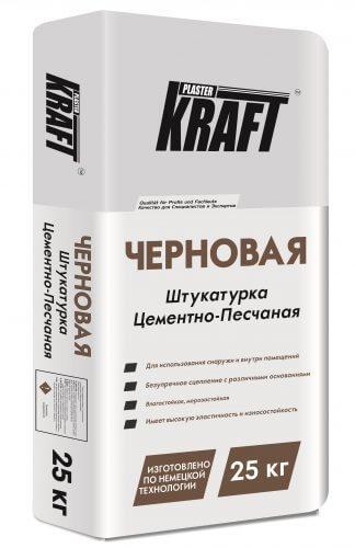 """Штукатурка цементно-песочная """"KRAFT"""" Черновая (25кг)"""