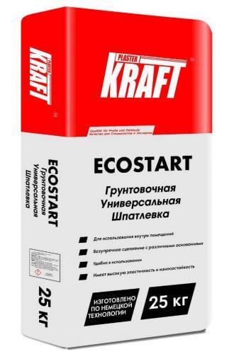 """Грунтовочная универсальная шпатлевка """"KRAFT"""" ECOSTART (25кг)"""