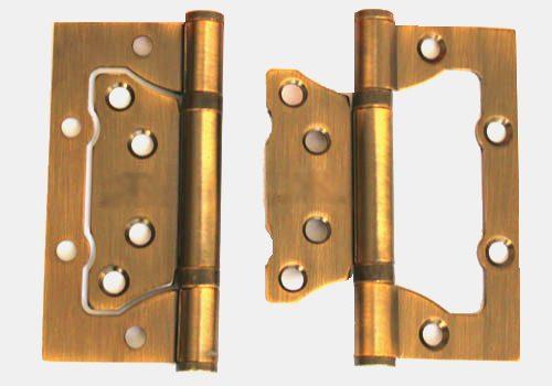 Дверные петли Бабочка золотистые
