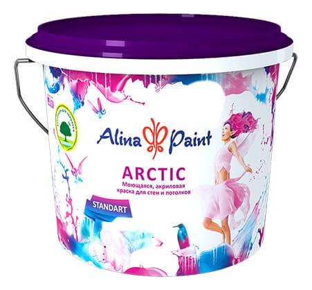 """(7кг) """"Alina Paint"""" Арктик белая моющаяся"""