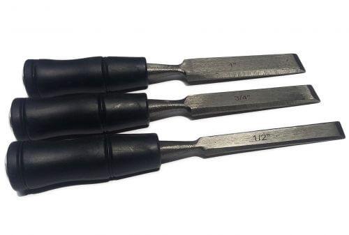 Стамеска прямая (черная ручка)