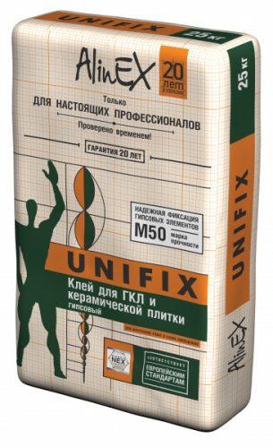 """Клей для ГКЛ """"Alinex"""" UNIFIX (25кг)"""
