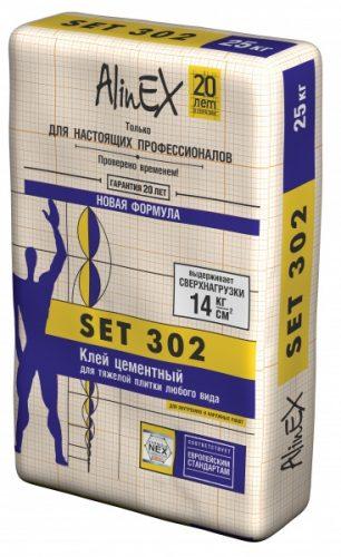 """Клей для тяжелой плитки """"Alinex"""" SET 302 (25кг)"""
