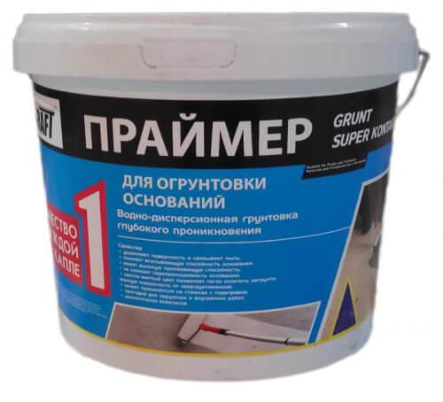"""Грунтовка глубокопроникающая """"KRAFT"""" Праймер (10л)"""