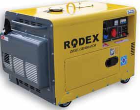 Дизельный генератор в шумозащитном кожухе RDX7500DES (6 кВт)