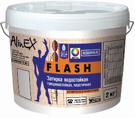 "Затирка для швов плитки ""Alinex"" FLASH цветная (2кг)"
