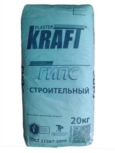 """Гипс строительный """"KRAFT"""" (20кг)"""