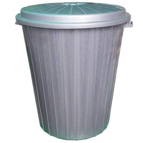 Бак мусорный серый (65л)