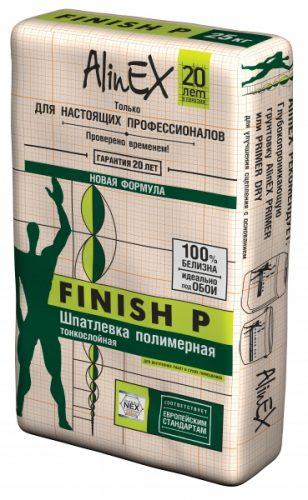 """Шпатлевка полимерная """"Alinex"""" FINISH P (25кг)"""