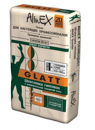"""Шпатлевка гипсовая """"Alinex"""" GLATT (25кг)"""